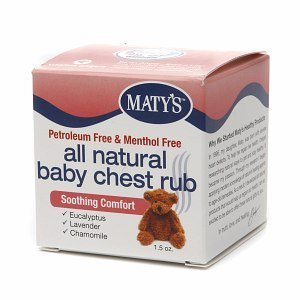 Herbal Cold Remedies Maty S All Natural Baby Chest Rub